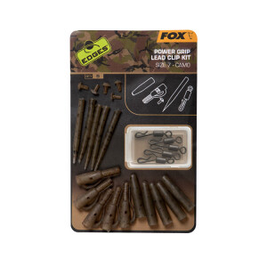 Fox Edges Camo Power Grip Lead Clip Kit