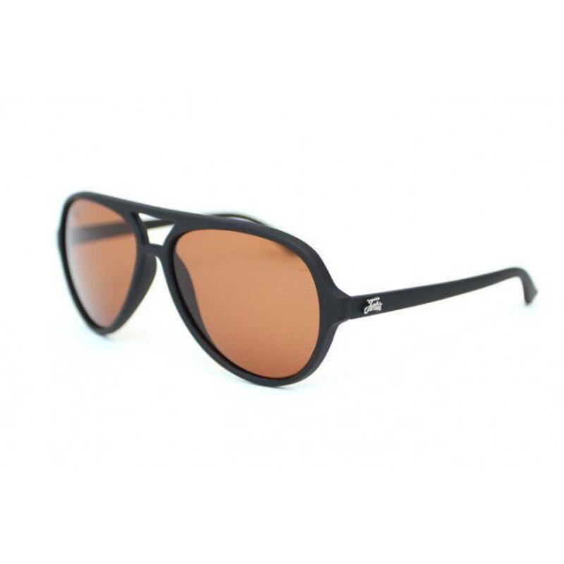 Fortis Aviator Matt Black - Polarised Brown