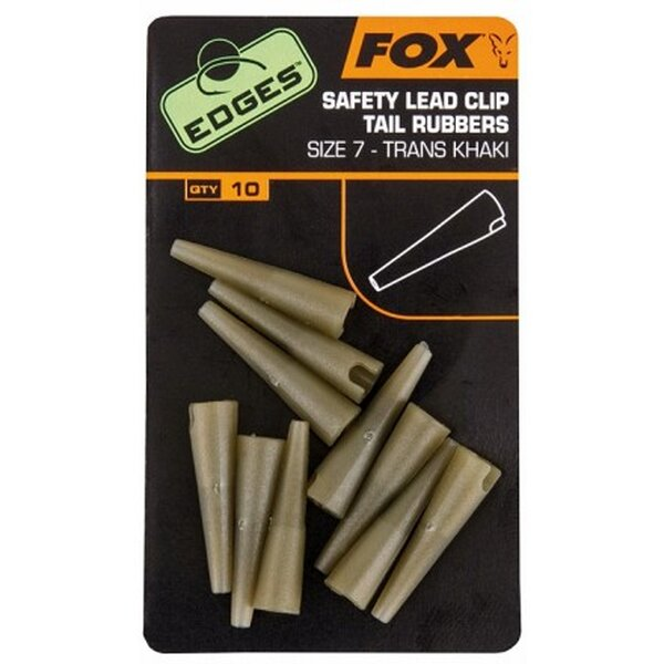 Fox Edges Size 7 Lead Clip Tail Rubbers Khaki