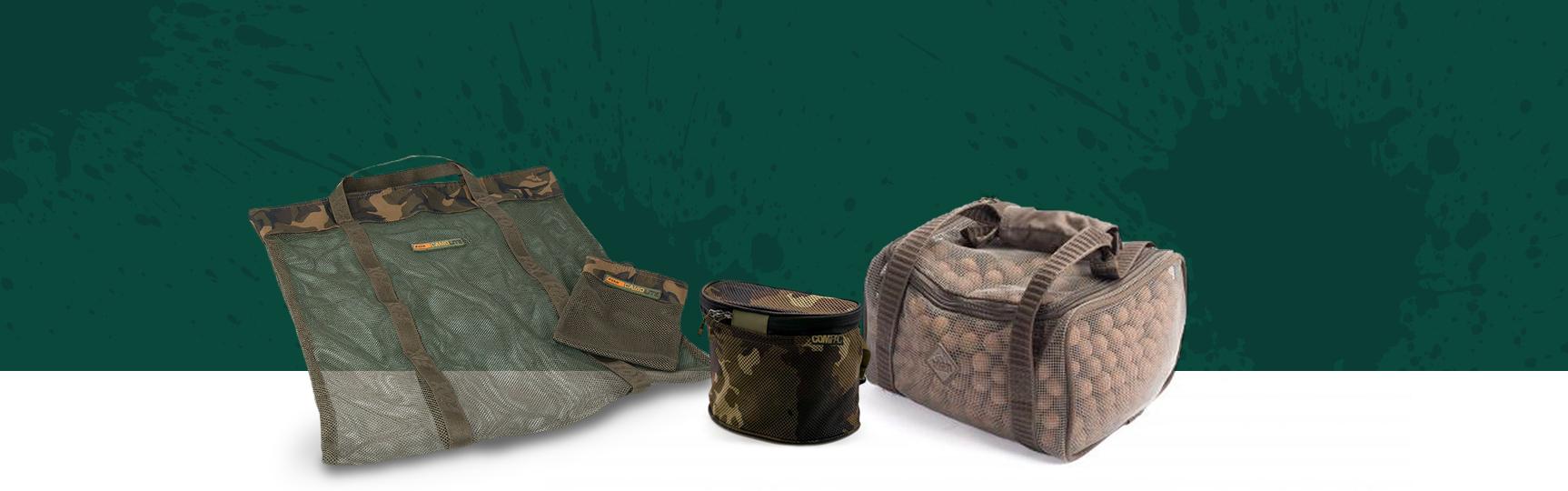 Boilie Dry Bags, Bait Caddys, Bait Bags